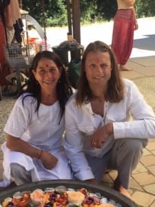 Derik Eselius and Brenna Hatami, lead yoga teacher training trainers.