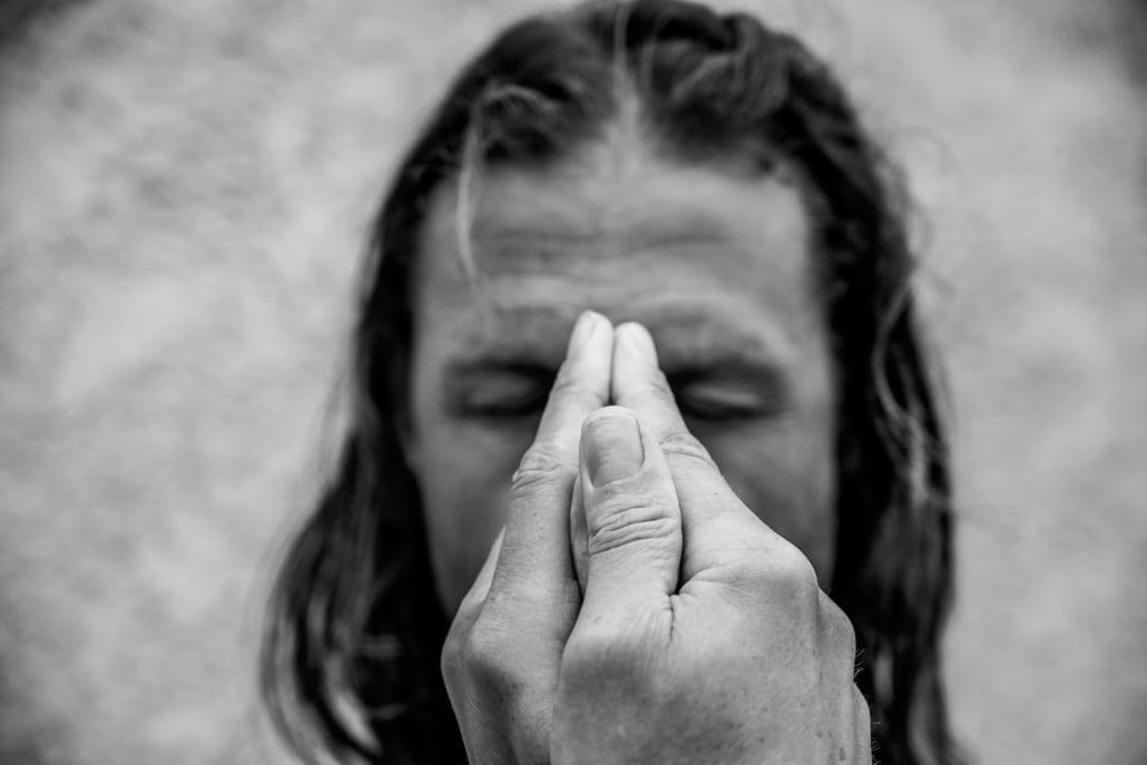 Yoga hand gesture changes your core beliefs.
