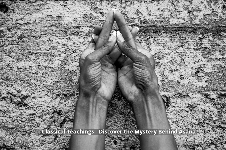 Yogic hand gesture called a mudra.