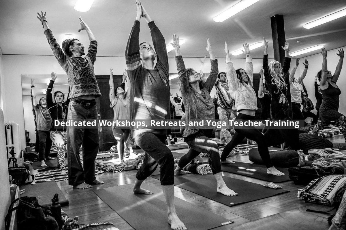 Dedicated Workshops, Retreats and Yoga Teacher Training.